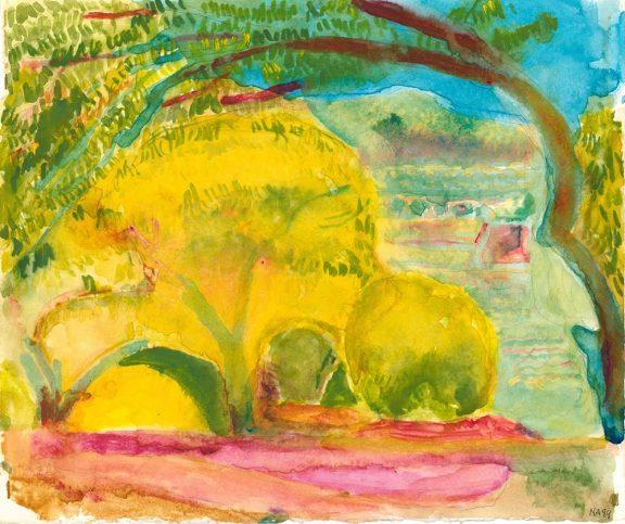 Norman Adams. Yellow Tree Provence 1989 27.5 h x 33 w £1500