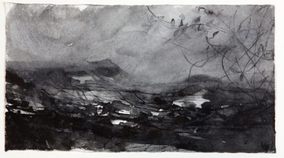 Autumn-Land-and-Weather-ink-on-paper-