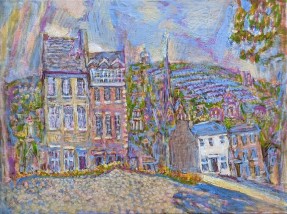 Milan Ivanic. Lancaster City. Acrylic on canvas.